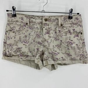 FOREVER 21 Demin Floral Mid-Rise Shorts Sz29